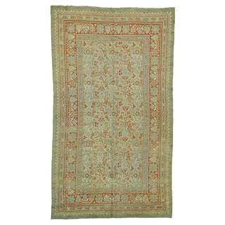 Gallery Size Antique European Donegal Wool Rug (8'7 x 14'9)