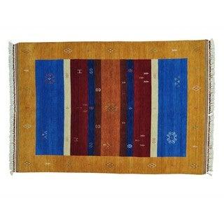 Modern Loomed Gabbeh Wool Oriental Rug (5'7 x 8')