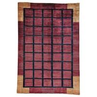 Hand-knotted Wool Modern Gabbeh Oriental Rug (6'6 x 9'5)