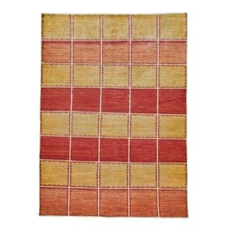 Wool Hand-knotted Modern Gabbeh Oriental Rug (5'7 x 7'9)