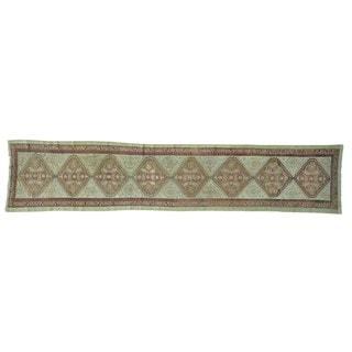 Xl Antique Persian Serab Mint Cond Wool Runner Rug (3'1 x 14'3)