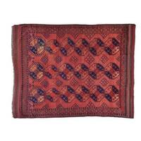Antique Afghan Elephant Feet Design Wool Rug - 8'1 x 10'2