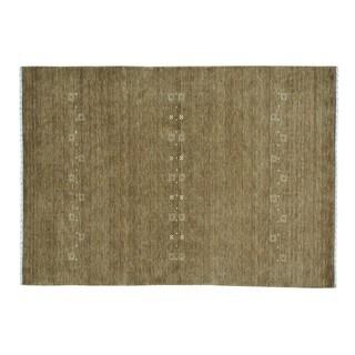 Wool Folk Art Modern Loomed Gabbeh Oriental Rug (5'7 x 8')