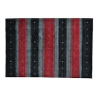 Multicolored Modern Loomed Gabbeh Wool Rug - Multi