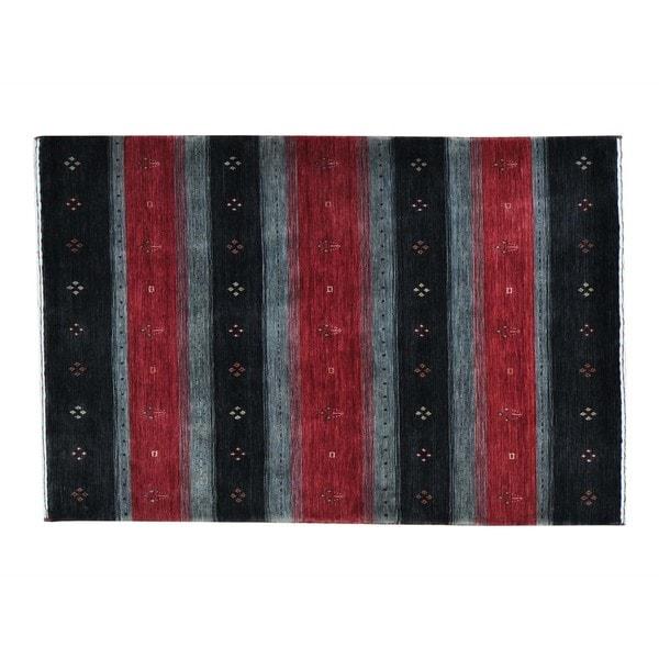 Modern Loomed Gabbeh Wool Oriental Rug - 4' x 6'