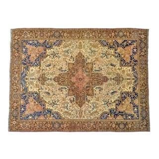 Semi Antique Persian Heriz Handmade Oversize Rug (11'1 x 15')