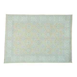 Peshawar with Oushak Design Wool Hand-knotted Rug (9' x 12'3)