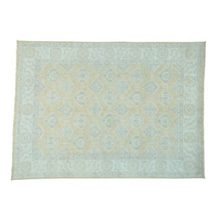 Peshawar with Oushak Design Wool Hand-knotted Rug (9' x 12'3) (As Is Item)