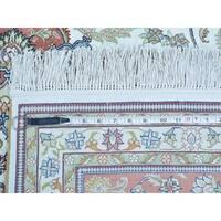 Pure Silk Kashan 600 KPSI Hand-knotted Oriental Rug (8' x 10')