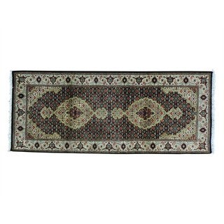 Wool and Silk Tabriz Mahi 250 KPSI Hand-knotted Runner Rug (2'7 x 6'3)