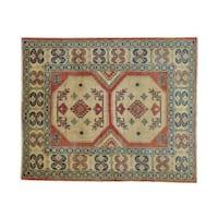 Kazak Oriental Zero Pile Hand-knotted Wool Rug (5'5 x 6'8)