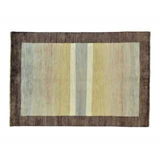 Hand-knotted Peshawar Gabbeh Wool Multicolored Rug (4'7 x 6'7)