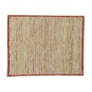 Hand-knotted Wool Gabbeh Peshawar Multicolored Rug (5' x 6')