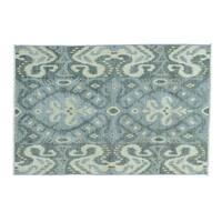 Ikat Uzbek Design Hand-knotted Wool Oriental Rug (4' x 6')