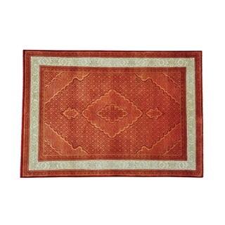 Wool and Silk Tabriz Mahi Tone On Tone Hand-knotted Rug (5'9 x 8'3)