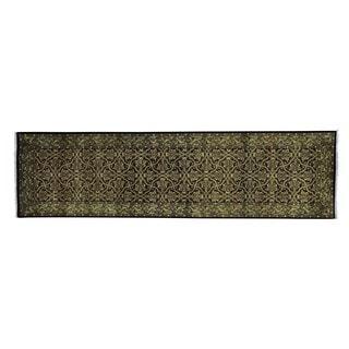 Herati Design 250 KPSI Handmade Wool and Silk Runner Rug (2'8 x 9'10)
