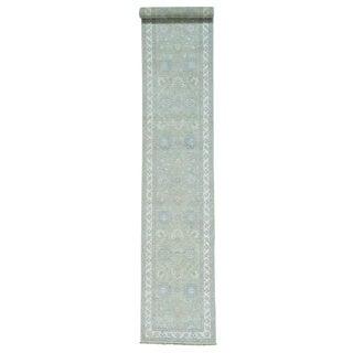 Peshawar Wool Xl Hand-knotted Oriental Runner Rug (2'7 x 14'4)