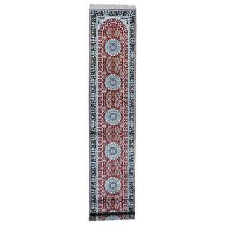 Silken Kashan 250 KPSI Hand-knotted Oriental Runner Rug (2'7 x 13'9)