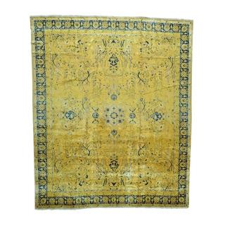 Antique Maharaja Kashmir Tree Design Oversize Rug (12'10 x 15'6)