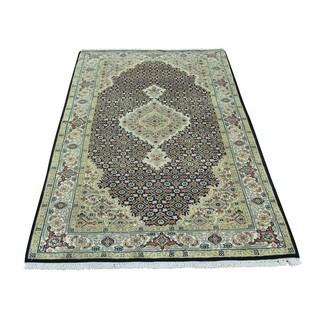 Tabriz Mahi Hand-knotted Wool and Silk Oriental Rug (3' x 5'5)
