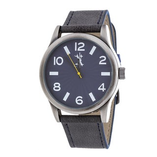 Brooklyn Exchange Men's Silver Case and Blue Dial / Blue Leather Strap Watch
