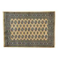 Wool Elephant Feet Design Bokara Handmade Oriental Rug (4'2 x 6')