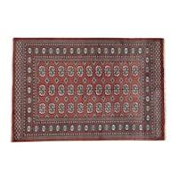 Elephant Feet Design Bokara Wool Handmade Rug (4'2 x 6'2)