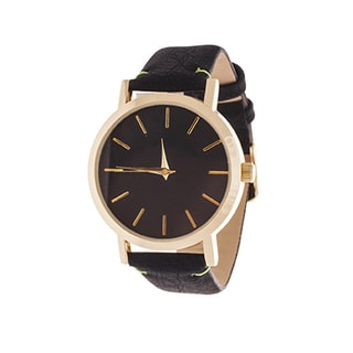 Xtreme Men's Gold Case and Black Dial / Black Leather Strap Watch