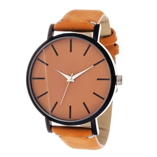 Xtreme Men's Black Case and Orange Dial / Orange Leather Strap Watch