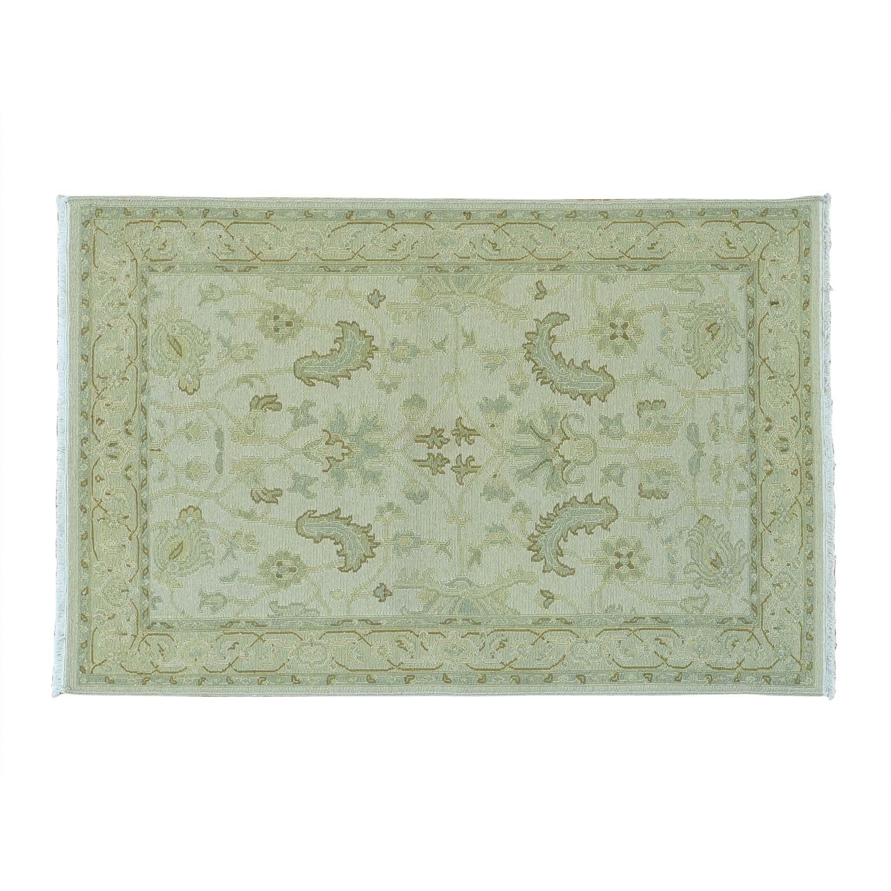 1800getarug Soft Colors Wool Flat Weave Soumak Hand-woven...