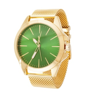 Xtreme Men's Gold Case and Strap / Green Dial Watch