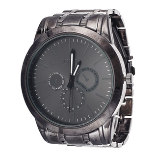 Xtreme Men's Black Case and Dial / Black Stainless Steel Strap Watch