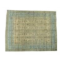 Antique Persian Mashad Gold Oversize Handmade Rug