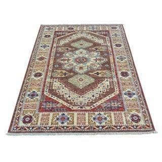 Super Kazak Chocolate Brown Wool Handmade Oriental Rug (3'2 x 5')