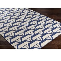 Hand Hooked Col Wool Area Rug
