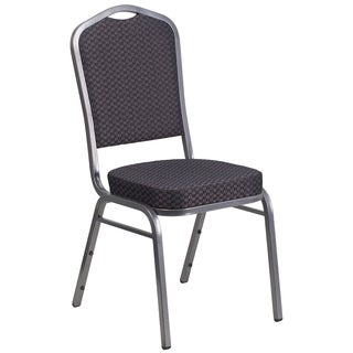 Decor Black and Grey Upholstered Stack Dining Chairs