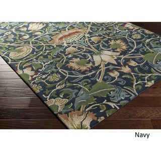 William Morris Hand-tufted England Exeter New Zealand Wool Rug (8' x 11')