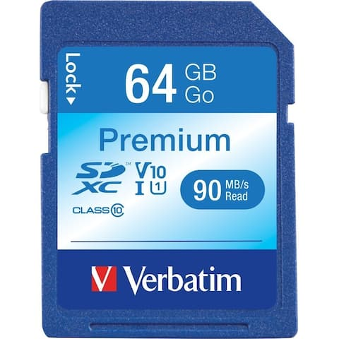 Verbatim 64GB Premium SDXC Memory Card, UHS-I Class 10