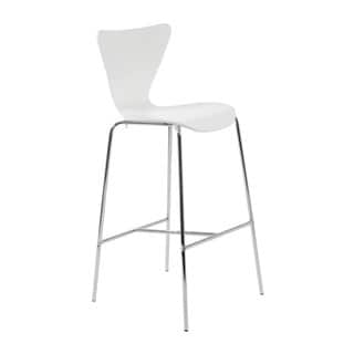 Tendy-B Bar Stool (Set of 2) - White/Chrome