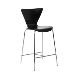 Tendy-C Counter Stool (Set of 2) - Black/Chrome