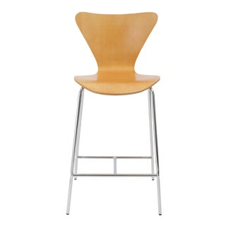 Tendy-C Counter Stool (Set of 2) - Natural/Chrome