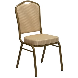 Comet Beige Upholstered Stack Dining Chairs