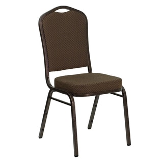 Freesia Brown Upholstered Stack Dining Chairs
