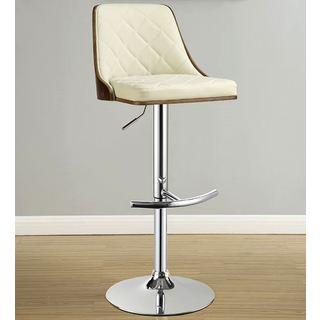 Braiden Bentwood Adjustable Upholstered Stool