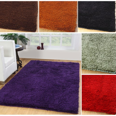 Affinity Home Luxurious Plush Shag Area Rug (3' x 5')