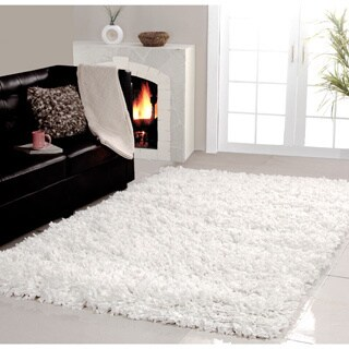 Affinity Home Collection Cozy Shag Handmade Area Rug (4' x 6')