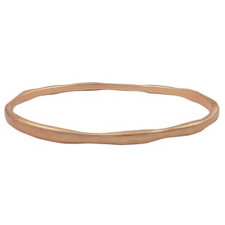 Luxiro Matte Gold Finish Curved Bangle Bracelet