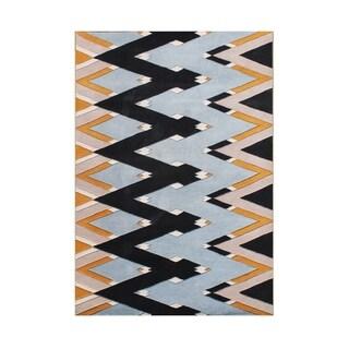 Alliyah Handmade Zig Zag Pattern New Zealand Blend Wool Rug (5' x 8')
