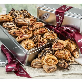 Dulcet's Chocolate Raspberry Cinnamon Apricot Pastry Rugelah Bakery Gift Snack Basket