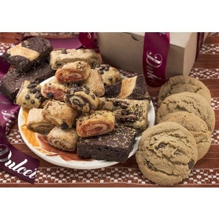 Dulcet's Assorted Kraft Cookies, Brownies and Rugelah Gift Box